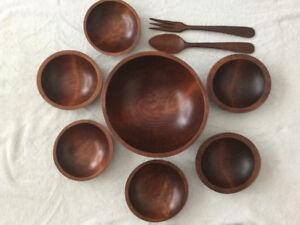 Vintage Mid Century Salad Bowl Set by Baribocraft, Quebec