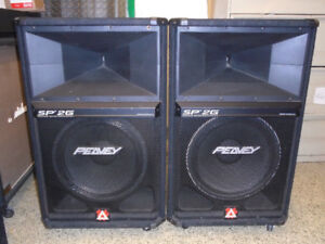 1200W PEAVEY PA SPEAKERS (PAIR)