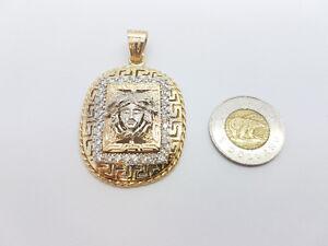 10k chaine en torsade avec pendentif versace en or