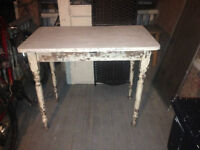 Shabby Chic Chippy Side table,,entrance table