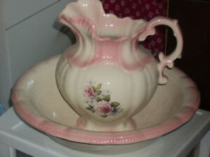 Antique water basin and picture