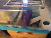 Hamster cage food sawdust complete set