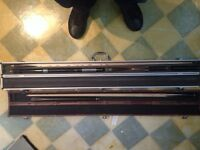 Snooker cues and cases