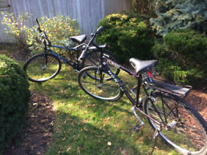 Two Norco Moutain bikes