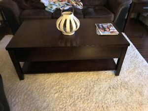 Real wood Coffee Table and 1 End table