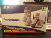 PANASONIC 5.8GHZ 3 x HANDSET DIGITAL CORDLESS ANSWERING SYSTEM