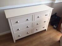 Ivory/Cream Bedroom Furniture (Wardrobe, Side-Board Drawers & Bedside Cabinet/Locker)