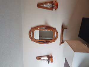 Mirror and Oil Lamps