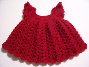Handmade Christmas Baby Dress - new!