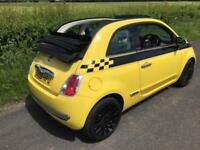59 Fiat 500C 1.2 LOUNGE Convertible YELLOW FSH Stunning Throughout