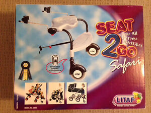 Seat2Go Safari  sit stand stroller attachment