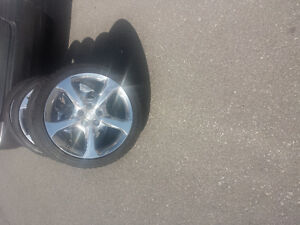 BRAND NEW CHEVY CAMAR0 20 INCH ALLOY WHEELS WITH WINTER TIRES