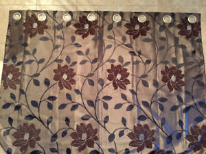 Curtains - 2 panels, brown