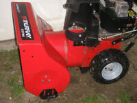 24 INCH 8 HORSE MURRAY SNOWBLOWER ELEC START