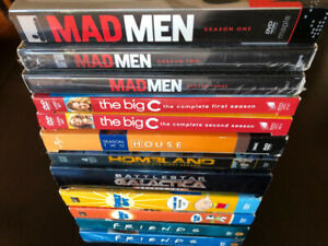 TELEVISION SHOWS (FAMILY GUY, FRIENDS, MAD MEN) 50+ DVD, BLU-RAY