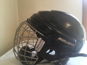 Bauer hockey helmet and mask combo