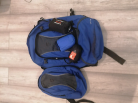 Large rucksack with extras