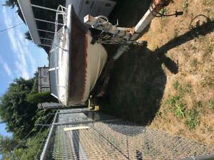 Crestliner boat and trailer and misc. for sale