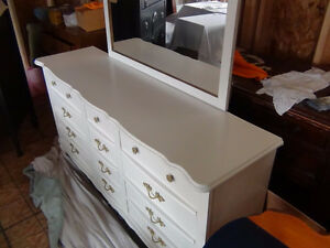 French Provincial Dresser with mirror-(Nine drawer) Kingston Kingston Area image 10