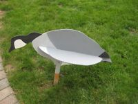 6 wooden goose decoys easy to use