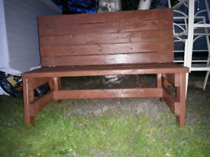 New Outside Bench