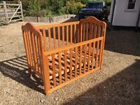 Mothercare wooden cot for baby/toddler