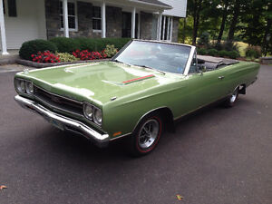 1969 Plymouth GTX 440 4-Speed Convertible, Original 2 Owner