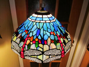 Tiffany style stained glass floor lamp.