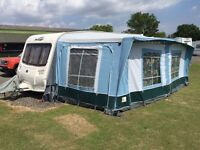 Full caravan awning with annexe