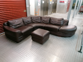 Genuine leather designer corner sofa delivery available today