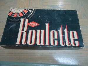 1941  LOWE Roulette Wheel Game Antique Vintage-Complete