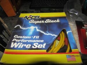 *8 Champion plugs & Accel universal v8 wires all new 100*