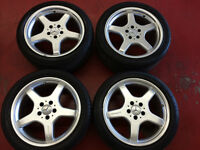 """18"""" MERCEDES A.M.G STAGERED WHEELS -- $1500"""