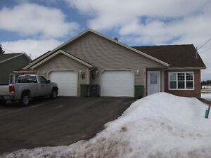 single level duplex with attached garage