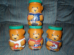 NHL KRAFT PEANUT BUTTER JARS