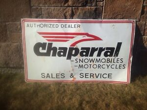 Rare/Vintage Metal Snowmobile sign For Sale