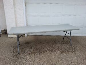 3 by 8 light weight tables