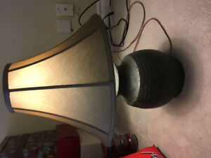 Lamp with pottery base
