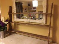 Beautiful vintage antique pine wall shelf