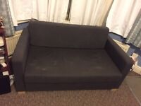 Fold out double bed couch futon love seat
