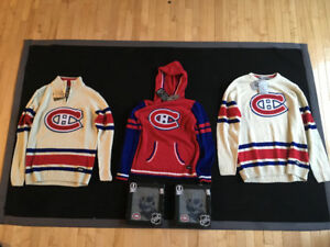 HABS Montreal Canadiens NHL Sweaters and Scarf Tuque Combos