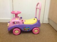 Musical sit & ride or push along baby walker