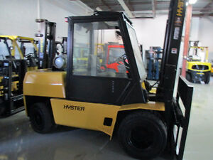 HYSTER FORKLIFT H100XL OUT DOOR WITH DUALLY TIRES 10000LB CAP.