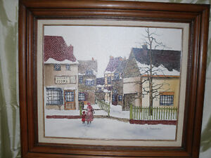 H. Hargrove oil Serigraph Painting Windsor Region Ontario image 1
