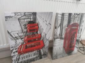 London Phone box canvas