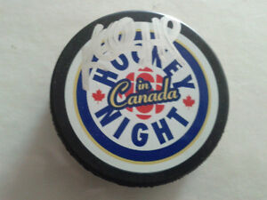 BUY TWO GET ONE FREE AUTOGRAPHED HOCKEY PUCKS