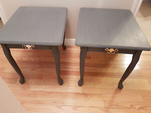 2 Refinished Queen Anne end tables