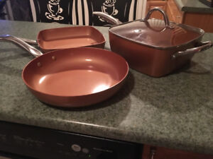 Copper Chef 6 Piece Cookware Set (Brand New)