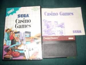 Casino Games - Sega Master Games - Available Now Merrylands Parramatta Area Preview