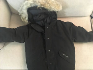 (2) Black and Red Canada Goose Jackets (Ages 10-12)